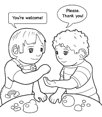 Kindness Is Helping Friend Colouring Page Coloring