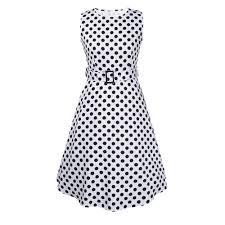 popular 1950s black and white polka dot dress buy cheap 1950s