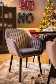 dunkelgrauer samt stuhl emilia fürs esszimmer wohnung