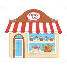 Bakery shop building vector illustration royalty free bakery shop building vector illustration stock vector
