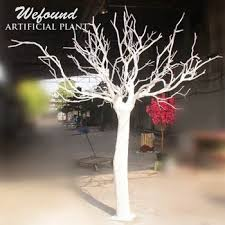 WD1503 White Artificial Manzanita Tree Wedding Table Centerpiece Fiberglass Trun Heavy Natural Branch