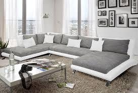 canap d angle design tissu canapé d angle en pu blanc et tissu gris duccio 2 home decor