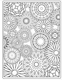 Stylish Idea Flower Coloring Pages For Adults Page 79