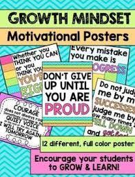 Growth Mindset Motivational Posters For The Classroom