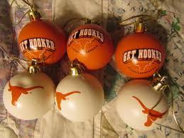 TEXAS LONGHORNS CHRISTMAS TREE ORNAMENTS BRAND NEW 2 BALLS 3 WHITE ORANGE FAST FREE