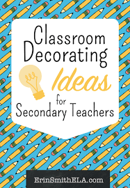 Classroom Decorating Ideas For Secondary Teachers From ErinSmith ELA