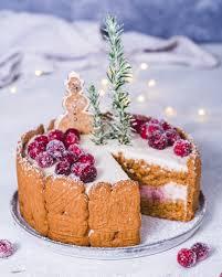 leichte spekulatius torte mit kirschen und buttercreme