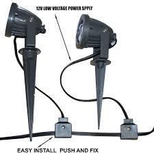 LED Garden Spike Light Kit 12v 3w LED per Spike Easy Install 5