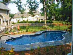 Excellent Curve Swimming Pool Design For Backyard With Natural ... Swimming Pool Designs For Small Backyard Landscaping Ideas On A Garden Design With Interior Inspiring Backyards Photo Yard Home Naturalist House In Pool Deoursign With Fleagorcom In Ground Swimming Designs Small Lot Patio Apartment Budget Yards Lazy River Stone Liner And Lounge