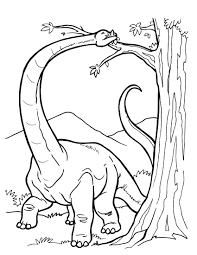 Long Dinosaur Coloring Pages