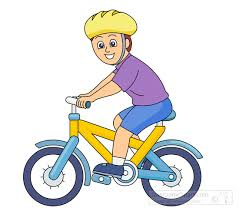 Child Riding A Bike Clipart Sports