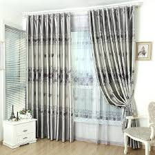 Dining Room Elegant Gray Curtains Light And White Blackout