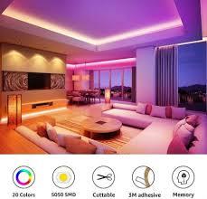 le led lichtband 10m 2x5m rgb led streifen band led stripes 36w led lichterkette 20 farben 8 modi mit fernbedienung dekorative farbwechsel