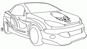 Printable BMW Image Skull Coloring Page