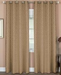 allen roth everly 63 in l geometric chocolate rod pocket curtain