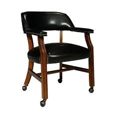Dining Chairs On Casters Rolling Dinette Caster Chair Room ...