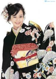 Japanese actress Maki Horikita in a furisode outfit Image via g2slp of Flicker