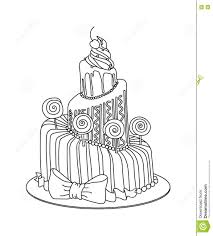 Cake Decorating Books Free by Celebration Cake Sketch Stock Vector Image 74792226