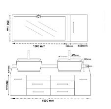 awesome hauteur standard meuble vasque salle de bain ideas