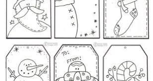 Christmas Gift Tags To Colour And Print