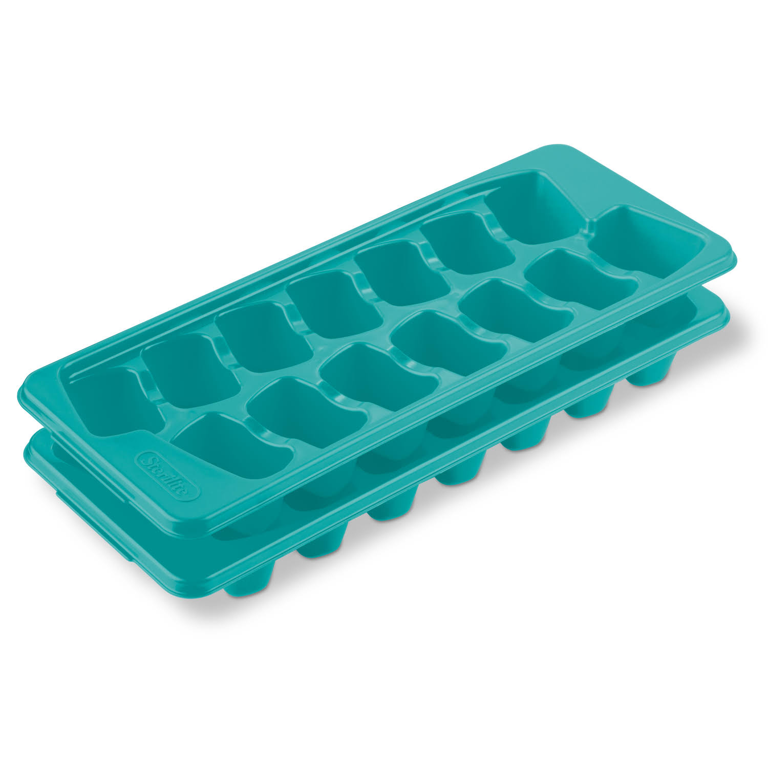 Sterilite Blue Atoll Set of Two Ice Cube Trays