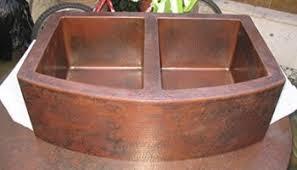 33x22 Copper Kitchen Sink by Ariellina Farmhouse 14 Gauge Hammered Copper Kitchen Sink