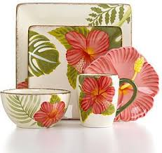 Clay Art Dinnerware Hibiscus Collection