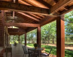 Ranch Style By The Lake Rustic Porch Houston Ellis