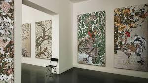 indoor mosaic tile wall glass patterned jakuchu sicis