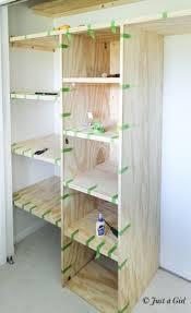 Wood Shelves Diy by Best 25 Diy Closet Shelves Ideas On Pinterest Closet Shelves
