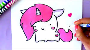 1280x720 Simple Cartoon Unicorn How To Draw A Easy Stepstep