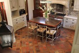 terracotta kitchen tiles before cleaning in henfield with floor