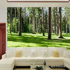 Nature Wall Art Forest Landscape Wallpaper Wood Trees Photo Natural Mural Home Decor Large Kids Room Bedroom Decoration