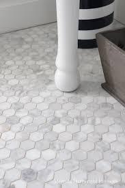 Faux Marble Hexagon Floor Tile by Marble Mosaics Bathrooms Pinterest Marble Mosaic Marbles