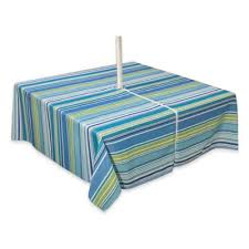 Square Patio Table Tablecloth With Umbrella Hole by Buy Square Outdoor Umbrella Tablecloths From Bed Bath U0026 Beyond