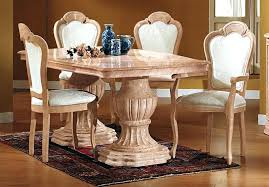 Italian Dining Room Sets Shining Wooden Floor With Antique Table Chairs