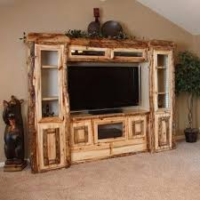 Aspen Estate Log Rustic Entertainment Center Will Be The Centerpiece Of Your Living