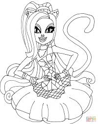 Coloring PagesFancy Monster High Pages Catty Noir Page