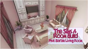 Barbie Living Room Set by The Sims 4 Room Build Pink Barbie Living Room Youtube