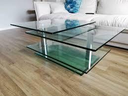drehbarer designer wohnzimmertisch glas