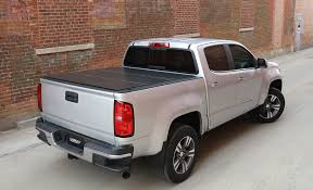 LOMAX Hard Tri Fold Tonneau Cover | Folding Truck Bed Cover