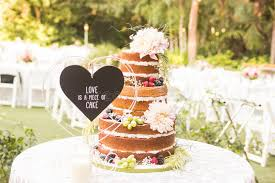 Download Naked Wedding Cake Stock Photo Image Of Covered