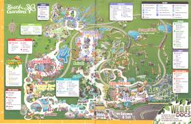 Busch Gardens Tampa 2016 Park Map
