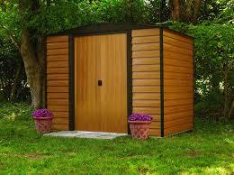 Metal Storage Sheds Amazon by Amazon Com Arrow Wr65 Woodridge Eg Steel Storage Shed 6 By 5