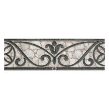 Bathtub Wall Liners Home Depot by Daltile Fashion Accents Wrought Grey 3 In X 8 In Ceramic