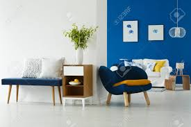 100 Modern Sofa For Living Room Blue And White Living Room Interior With Modern Furniture