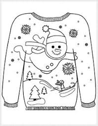 235x303 16 Ugly Christmas Sweater Colouring Pages Ugliest