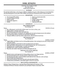 nanny resume exles are made for those who are professional with