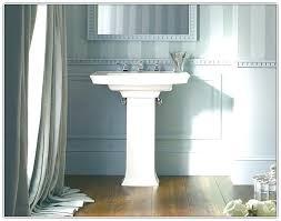 sink install kohler white porcelain pedestalkohler archer pedestal