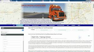 100 Free Trucking Schools How To Get FREE GRANTS For Truck Driving School